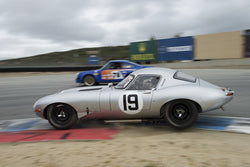 Nick Colonna driving his Jaguar E-Type Lightweight in Group 6 at the 2015 HMSA Spring Club Event at Mazda Raceway Laguna Seca