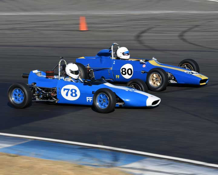 Charlie Lyford with 1970 Caldwell D9b in  Group 6 at the 2015 Season Finale at Thunderhill Raceway