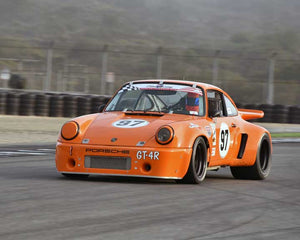 Michael McGrath with 1974 Porsche 911 RSR in Group 1 - PCA Sholar-Friedman Cup at the 2015 Rennsport Reunion V, Mazda Raceway Laguna Seca