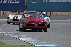 Glenn Oliveria with 1955 Alfa Romeo Giulietta in Group 1  at the 2016 HMSA LSR II - Mazda Raceway Laguna Seca