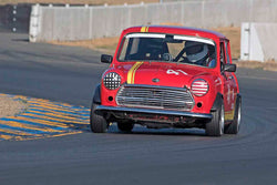 Holger Mishal - 1965 Austin Mini Cooper S in Group 9 - Can-Am Mini Challenge at the 2017 CSRG Charity Challenge run at Sonoma Raceway