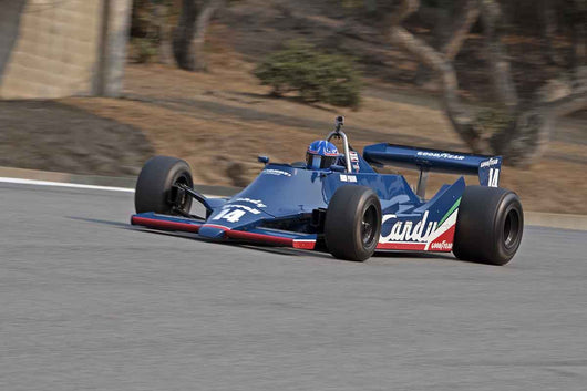 Mike Thurlow - 1979 Tyrrell 009 in Group 7B  at the 2016 Rolex Monterey Motorsport Reunion - Mazda Raceway Laguna Seca