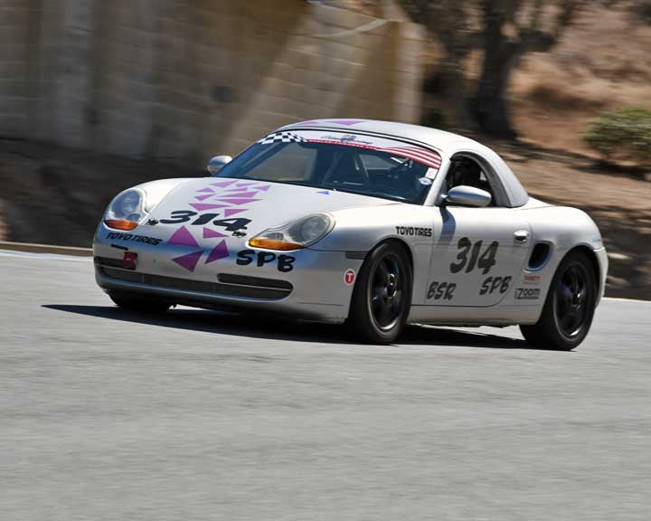 John Seidell with 1999 Porsche Boxster in Group 1 - PCA Sholar-Friedman Cup at the 2015 Rennsport Reunion V, Mazda Raceway Laguna Seca