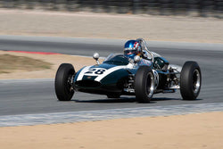 John Fudge with 1961 Cooper T56 in Group 1  at the 2016 HMSA LSR II - Mazda Raceway Laguna Seca