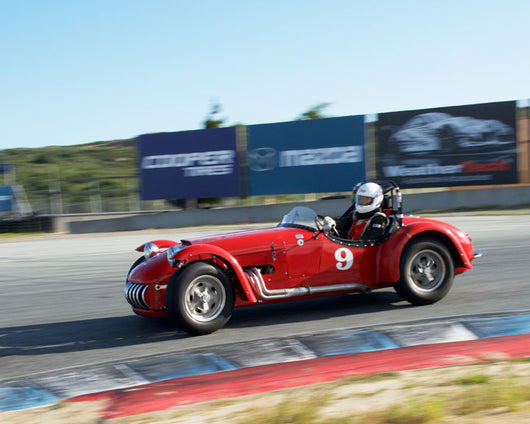 Robert Manson with 1953 Kurtis 500 at the 2016 HMSA LSR Invitational I at Mazda Raceway Laguna Seca