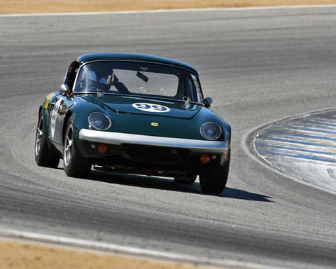 Victor Avila with 1964 Lotus 26R in Group 4B - 1961-1966 GT Cars under 2500cc at the 2015-Rolex Monterey Motorsport Reunion, Mazda Raceway Laguna Seca