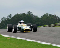 Chris MacAllister with 1967 Lotus 49 in Group 6 Master F1 at the 2015 HMSA Barber Historics