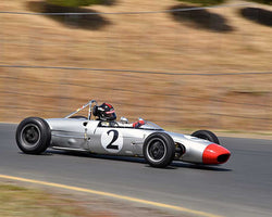 Art Hebert with 1963 Lola Mk5A in Group 8 - 1956-1963 Formula Junior cars at the 2015 Sonoma Historic Motorsports Festival at Sonoma Raceway