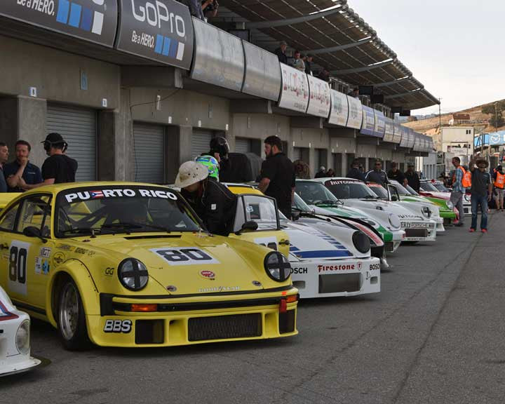 Group 5 - Carrera Trophy at the 2015 Rennsport Reunion V, Mazda Raceway Laguna Seca