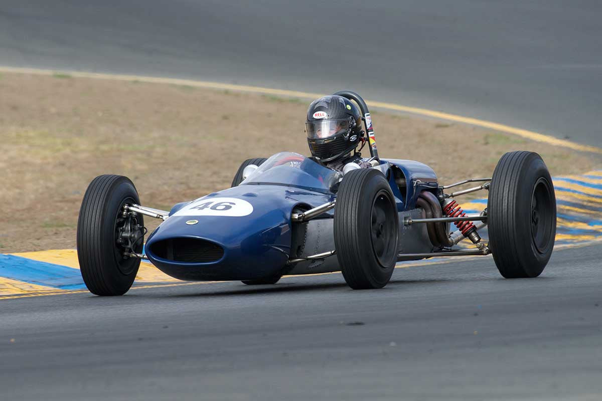 Alberto Fernandez Sr. - 1963 Lotus Junior 27 in Group 5 -  at the 2016 Charity Challenge - Sonoma Raceway