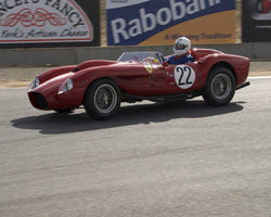 Tom Price with 1957 Ferrari 250TR in Group 1 at the 2015 HMSA LSR Invitational II at Mazda Raceway Laguna Seca