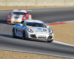 David Gronke with 2011 Porsche Cayman in Group 1 - PCA Sholar-Friedman Cup at the 2015 Rennsport Reunion V, Mazda Raceway Laguna Seca