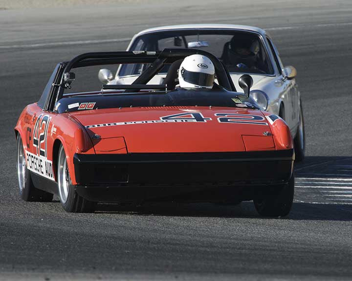 Leon Desimone with 1970 Porsche 914/6 in Group 3 - Eifel Trophy at the 2015 Rennsport Reunion V, Mazda Raceway Laguna Seca