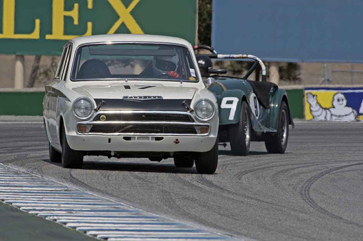 Steven Lawrence - 1966 Lotus Cortina in Group 4B  at the 2016 Rolex Monterey Motorsport Reunion - Mazda Raceway Laguna Seca
