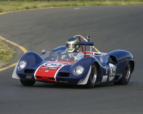 Michael Malone driving his 1966 Elva Mk8 in Group 4 at the 2015 CSRG David Love Memorial Vintage Car Road Races at Sonoma Raceway