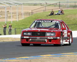 Chris Liebenberg with 1982 Ford Mustang in Group 13 - 1982-1991 Historic IMSA GTO/SCCA Trans-Am at the 2015 Sonoma Historic Motorsports Festival at Sonoma Raceway