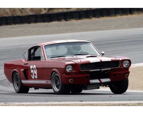 Lindsay Ross driving his Shelby GT350 in Group 6 at the 2015 HMSA Spring Club Event at Mazda Raceway Laguna Seca