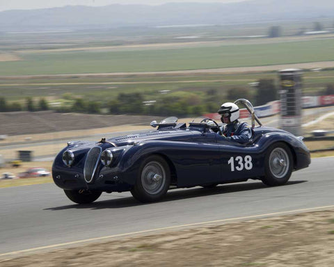 Tim Barnes with 1951 Jaguar XK120 in Group 2 - 1946-1955 Sports Racing and Production Cars at the 2015 Sonoma Historic Motorsports Festival at Sonoma Raceway