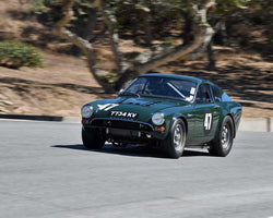 Adam Lindemann with 1964 Sunbeam Tiger in Group 5B - 1963-1966 GT Cars over 2500cc at the 2015-Rolex Monterey Motorsport Reunion, Mazda Raceway Laguna Seca