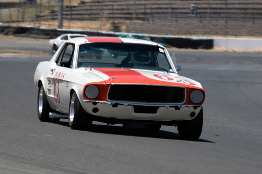 Chad Parrish with 1969 Ford Mustang Boss 302 in Group 10 at the 2016 SVRA Sonoma Historics - Sears Point Raceway