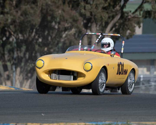 Don Baldocchi with 1954 Nardi Crosley Spider in Group 9 - at the 2016 CSRG David Love Memorial - Sears Point Raceway