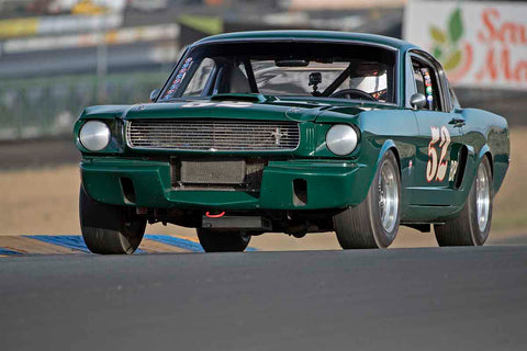 Bill Kelley - 1966 Ford Mustang in Group 3 - Large Displacement Production Sports Cars through 1967 at the 2017 CSRG Charity Challenge run at Sonoma Raceway