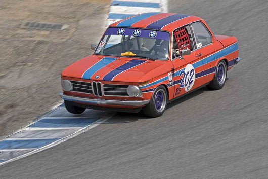 Craig Taylor - 1968 BMW 2002 in Group 4B  at the 2016 Rolex Monterey Motorsport Reunion - Mazda Raceway Laguna Seca