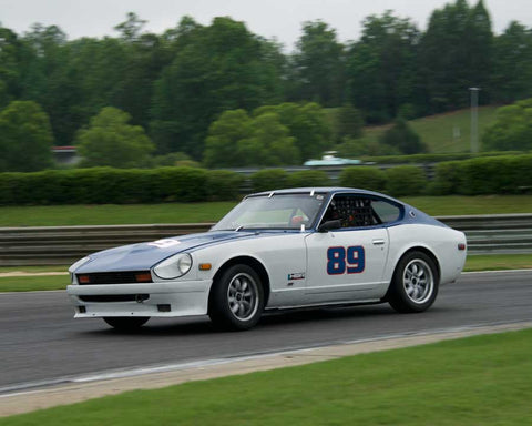 Houghton Smith with 1978 Datsun 280Z in Group 2  at the 2015 HMSA Barber Historics