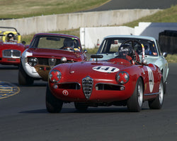 David Buchanan driving his 1956 Alfa Romeo Spider in Group 2 at the 2015 CSRG David Love Memorial Vintage Car Road Races at Sonoma Raceway