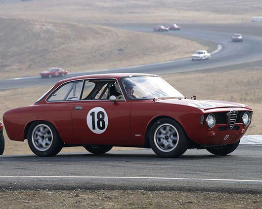 Stephen Chamberlin with 1966 Alfa Romeo Giulia Sprint in  Group 2 at the 2015 Season Finale at Thunderhill Raceway