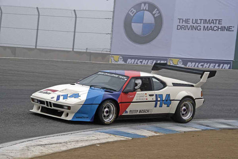 Alf Gebhardt - 1981 BMW M1 in Group 4A  at the 2016 Rolex Monterey Motorsport Reunion - Mazda Raceway Laguna Seca