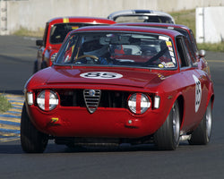 Nick Price driving his 1965 Alfa Romeo GTA in Group 3 at the 2015 CSRG David Love Memorial Vintage Car Road Races at Sonoma Raceway