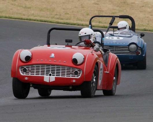 Brian Blain with 1960 Triumph TR3A in Group 10 at the 2016 CSRG David Love Memorial - Sears Point Raceway
