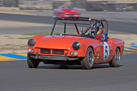 Lawrence Francis - 1964 Triumph Spitfire in Group 2 - Small Displacement Production Sports Cars through 1967 at the 2017 CSRG Charity Challenge run at Sonoma Raceway