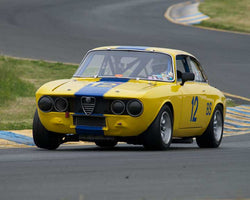 Don Forrester with 1969 Alfa Romeo GTV in Group 3 - at the 2016 CSRG David Love Memorial - Sears Point Raceway