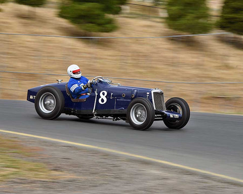 Richard Jeffery with 1935 Riley Special Brooklands in Group 1 - Pre-1941 Sport and Touring, 1925-1941 Racing Cars at the 2015 Sonoma Historic Motorsports Festival at Sonoma Raceway