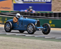 Jan Voboril with 1925 Bugatti Type 35 in Group 1B - 1927-1951 Racing Cars at the 2015-Rolex Monterey Motorsport Reunion, Mazda Raceway Laguna Seca