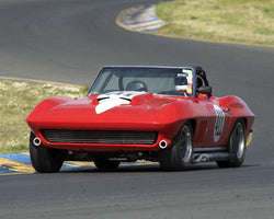 Robert Webster driving his 1965 Chevrolet Corvette in Group 3 at the 2015 CSRG David Love Memorial Vintage Car Road Races at Sonoma Raceway
