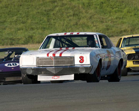 Richard Orme with 1971 Chevrolet Monte Carlo in Group 8 - at the 2016 CSRG David Love Memorial - Sears Point Raceway