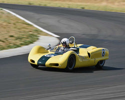 Paul Adams driving his 1962 Elva Mk6 at the 2015 CSRG Thunderhill Rolling Thunder at Thunderhill Raceway