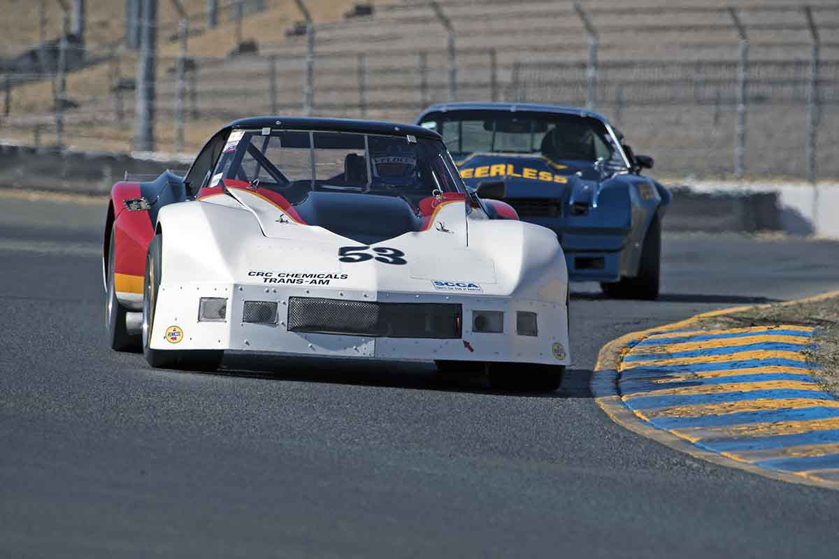 Mike Thurlow - 1976 Chevrolet Corvette in Group 8 -  at the 2016 Charity Challenge - Sonoma Raceway