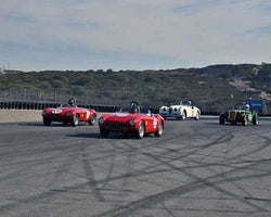 Group 2B with 1947with1955 Sports Racing and GT Cars in Group 2B - 1947-1955 Sports Racing and GT Cars at the 2015-Rolex Monterey Motorsport Reunion, Mazda Raceway Laguna Seca
