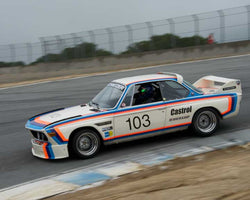 Thor Johnson with 1974 BMW CSL 3.5 in Group 5 -  at the 2016 HMSA Spring Club Event - Mazda Raceway Laguna Seca