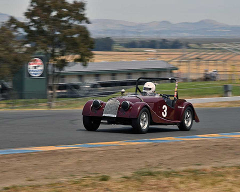 Tom Morgan with 1956 Morgan 4 in Group 3 - 1955-1962 Production and GT Cars at the 2015 Sonoma Historic Motorsports Festival at Sonoma Raceway
