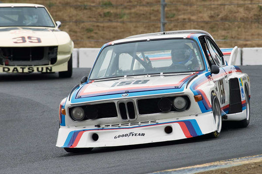 Henry Schmitt with 1974 BMW 3.5 CSL in Group 12 at the 2016 SVRA Sonoma Historics - Sears Point Raceway