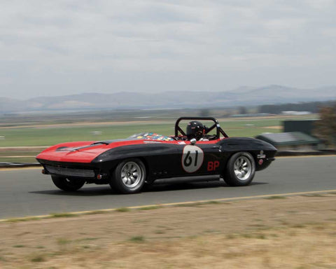 Larry Savio with 1965 Chevrolet Corvette in Group 6 - 1962-1972 Production and GT Cars Over 2000cc at the 2015 Sonoma Historic Motorsports Festival at Sonoma Raceway