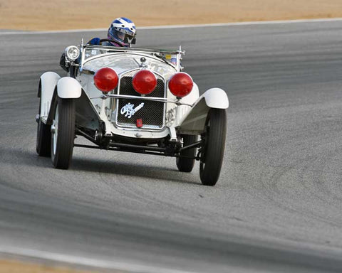 Shaun Halverson Mcclenahan with 1930 Alfa Romeo 6C 1750 Gran Sport Zagato in Group 1A - Pre 1940 Sports Racing and Touring Cars at the 2015-Rolex Monterey Motorsport Reunion, Mazda Raceway Laguna Seca