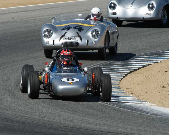 Thomas Downey with 1965 AutodynamicswithPorsche Formula B in Group 2 - Gmund Cup at the 2015 Rennsport Reunion V, Mazda Raceway Laguna Seca