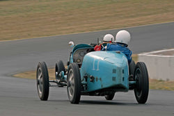 Nathanael B. Greene with 1925 Bugatti Type 35 in Group 1  at the 2016 SVRA Sonoma Historics - Sears Point Raceway