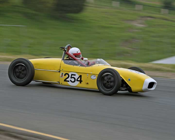 J.R. Mitchell with 1960 Lotus 18 FJR in Group 5 - at the 2016 CSRG David Love Memorial - Sears Point Raceway